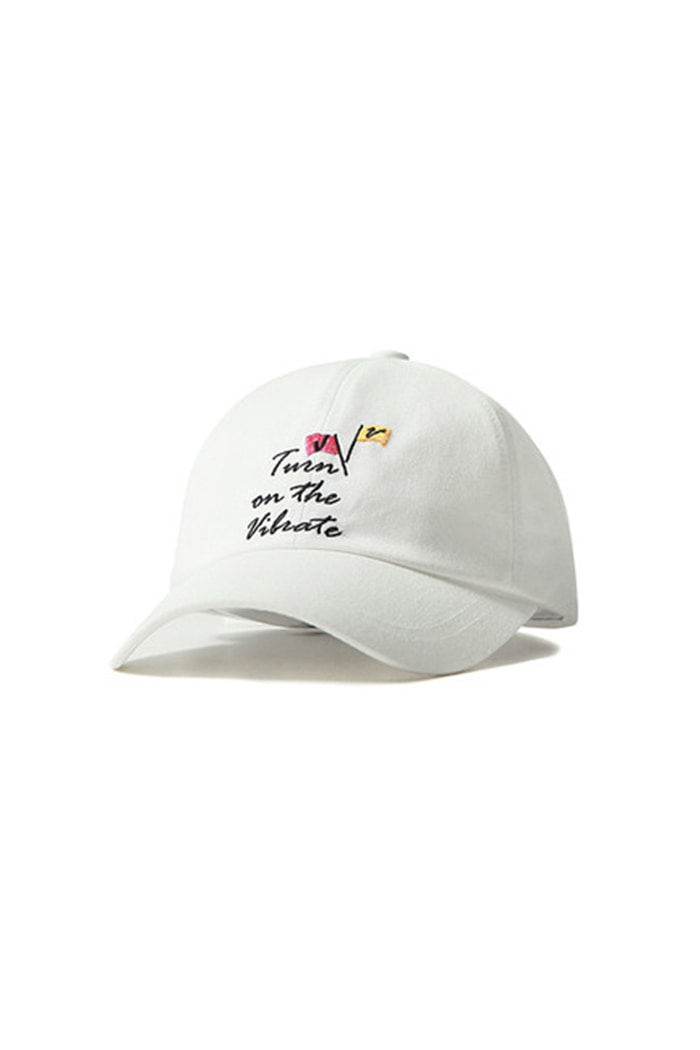 FLAG BALL CAP (WHITE)