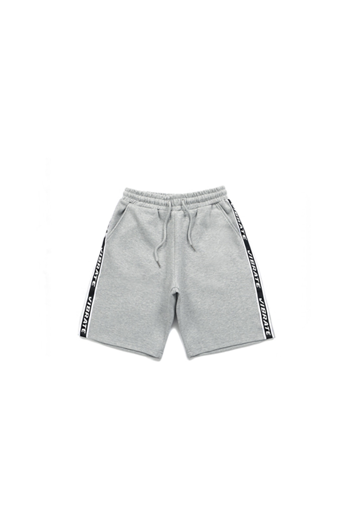 BASIC LOGO WEBBING TAPE SHORT PANTS (GRAY)