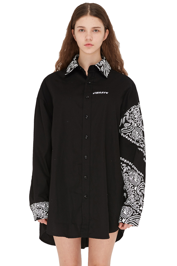PAISLEY OVER SHIRTS (BLACK)