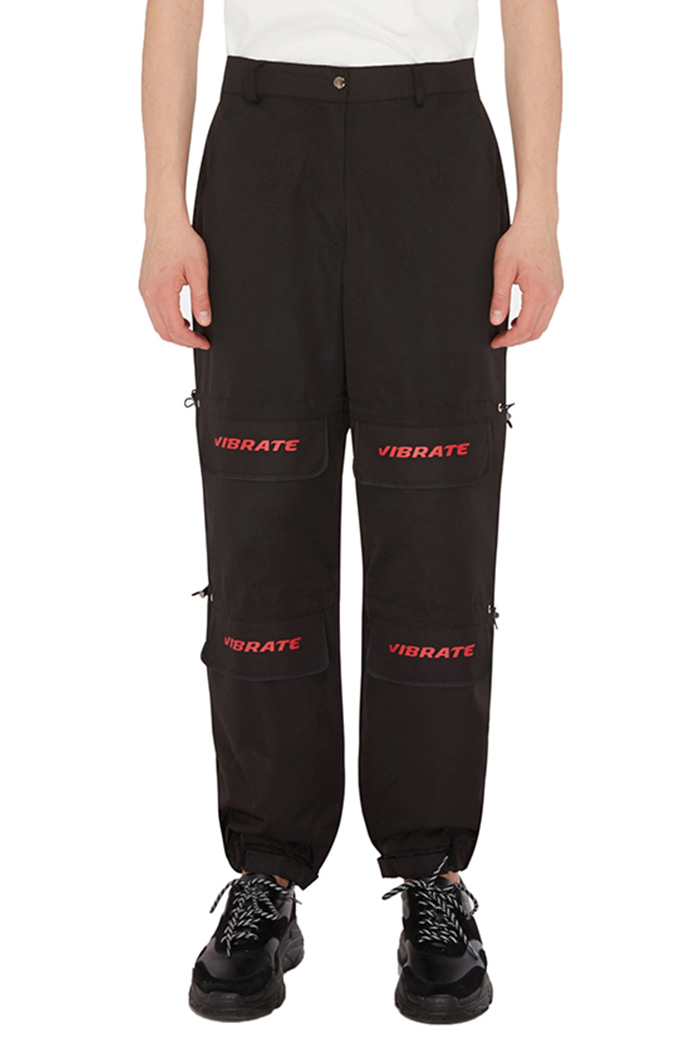 LID STRING POINT JOGGER PANTS (BLACK)