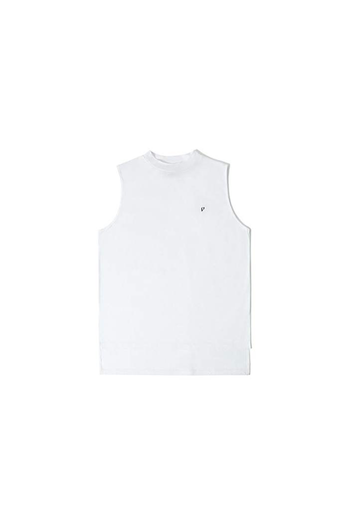 HALF NECK SLEEVELESS (WHITE)
