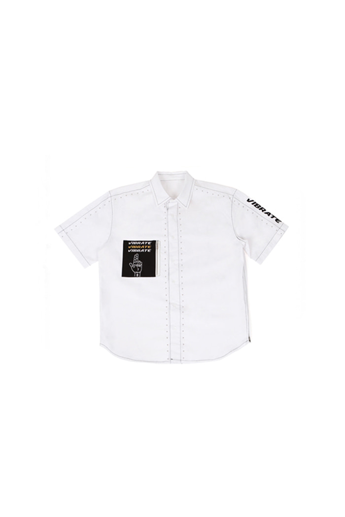 STUD COTTON SHIRT (WHITE)