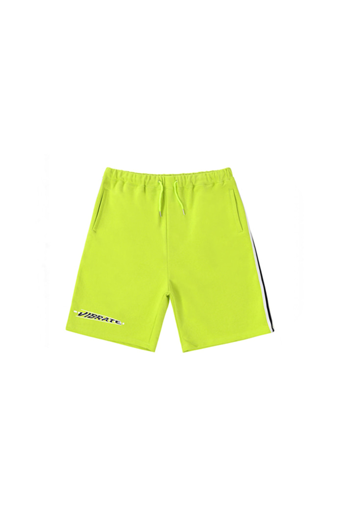DECRESCENDO LOGO SHORT PANTS (LIME)