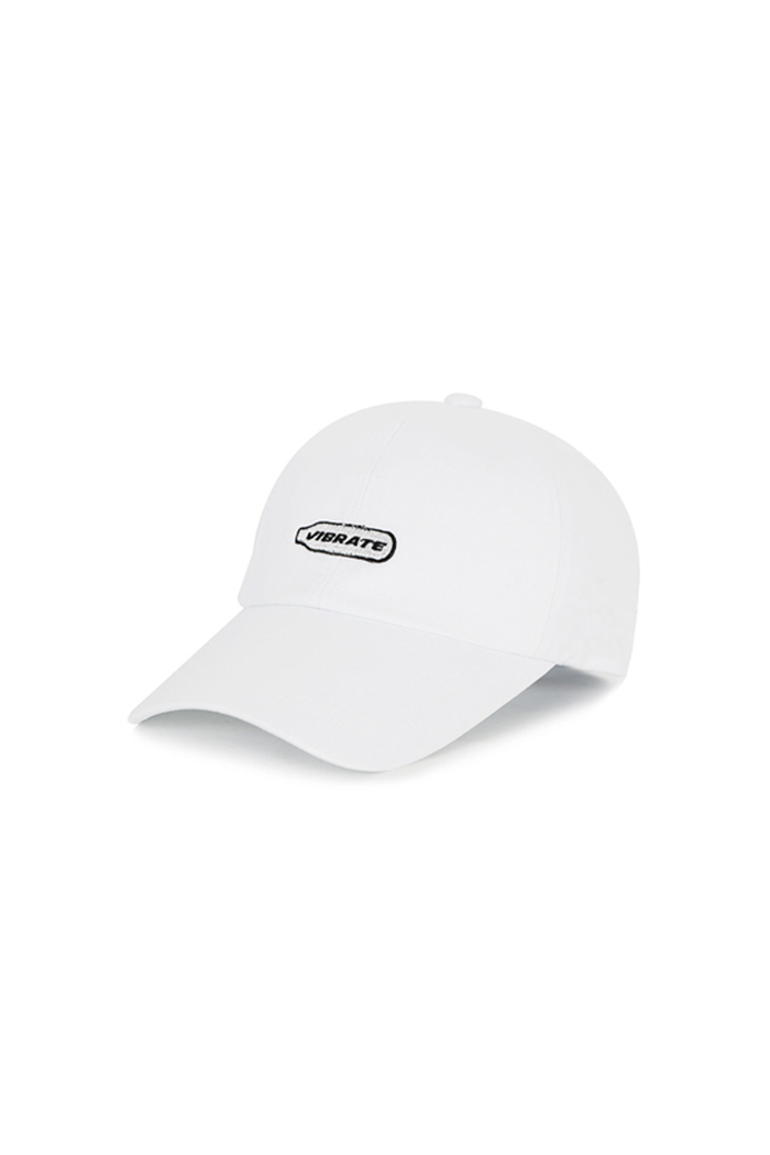 HAPPY PATCH BALL CAP (WHITE)