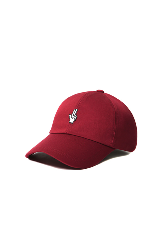 SIMPLE HAND SHAKE BALL CAP (RED)