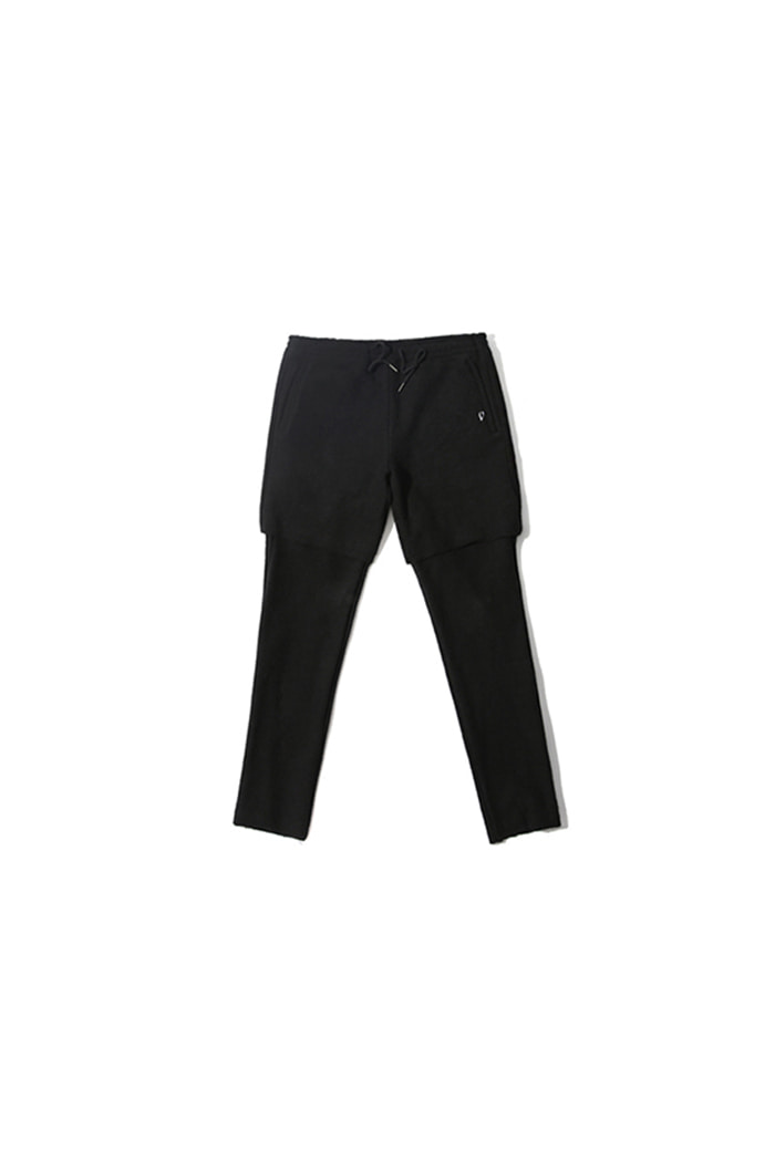 LAYERED REVERSE PANTS (BLACK)