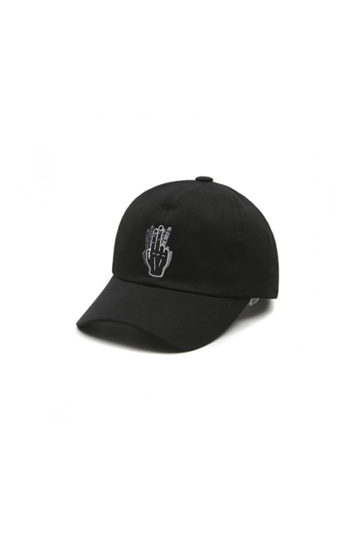HAND SHAKE SIGN BALL CAP (BLACK)