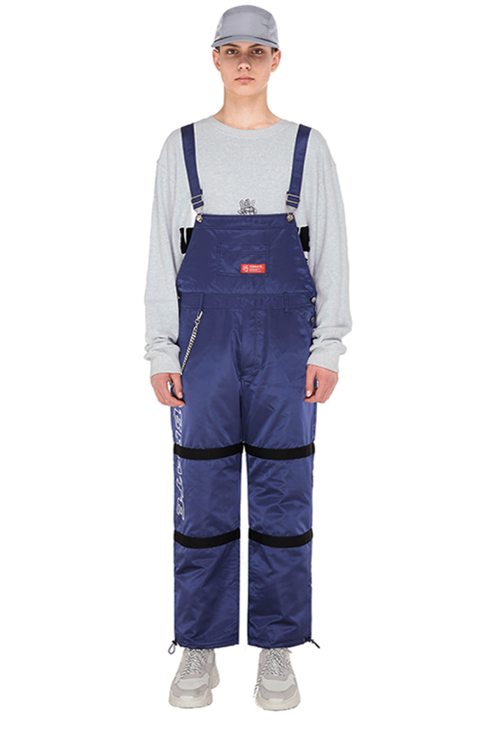 SIDE LOGO STRAP OVERALL (navy)