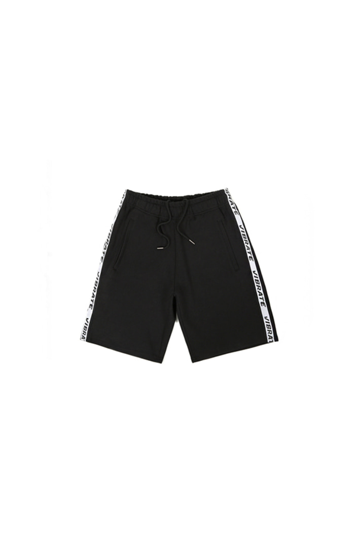 BASIC LOGO WEBBING TAPE SHORT PANTS (BLACK)