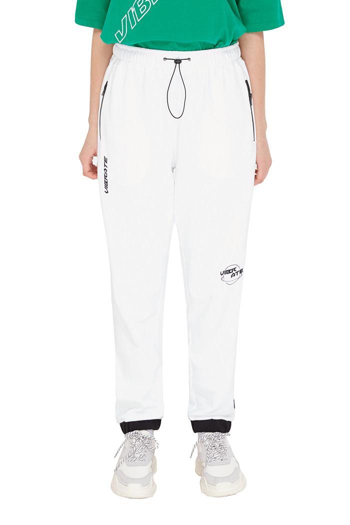BACK SIDE LOGO JOGGER PANTS (WHITE)