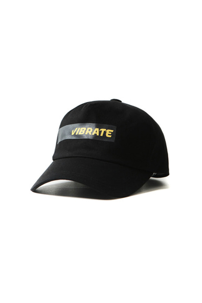 TAPE LOGO 5 PANEL BALL CAP (BLACK)