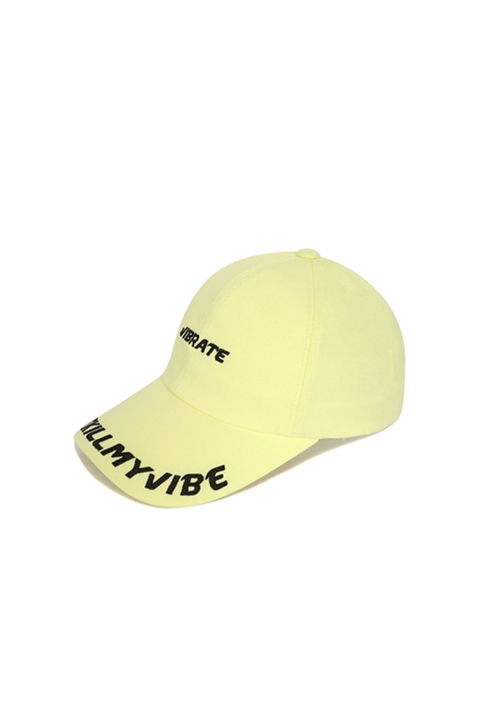 D.K.M.V VISOR EMBROIDERY BALL CAP (YELLOW&BLACK)