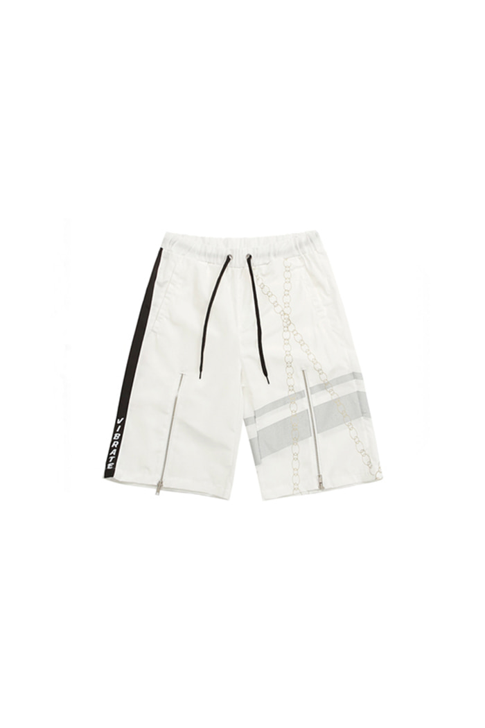 POINT CHAIN SHORT PANTS (WHITE)