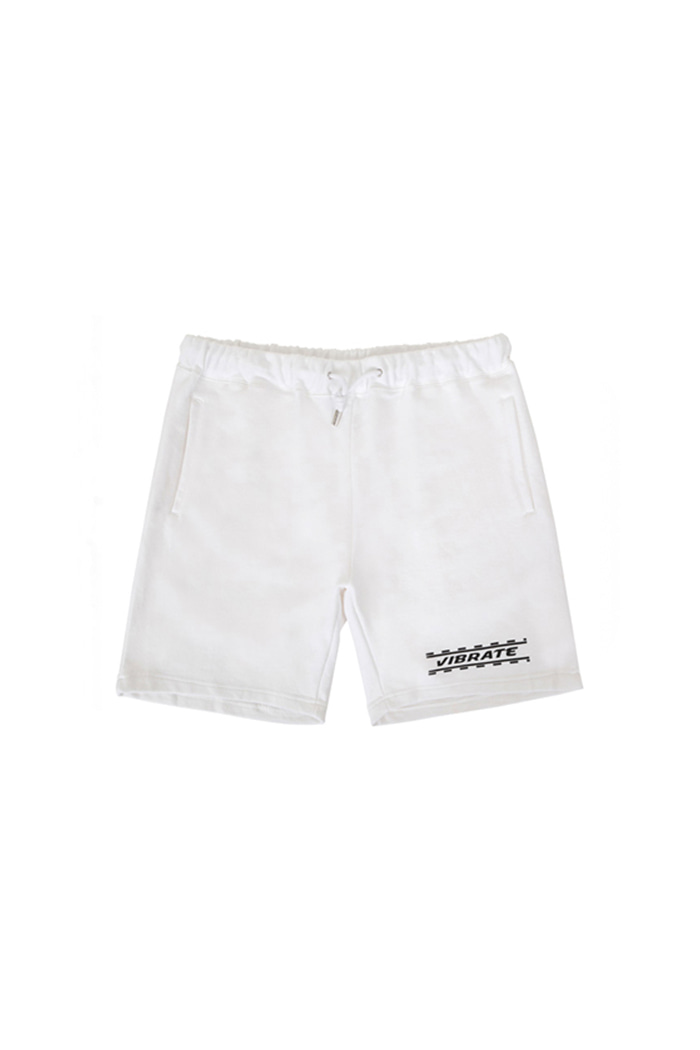 DOTTED WHITE LINE SHORT PANTS (WHITE)
