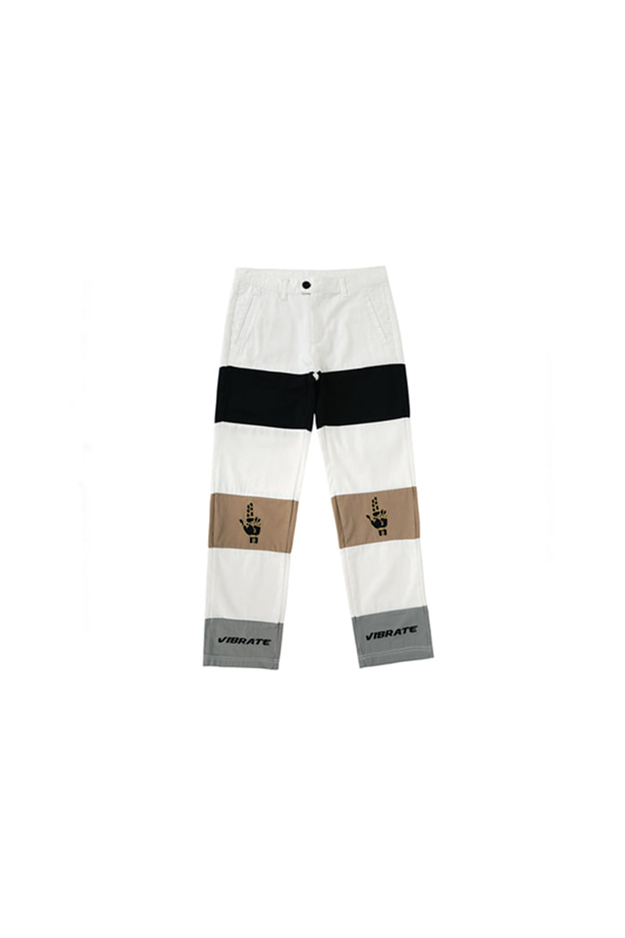 HAND SIGN COTTON PANTS (WHITE)