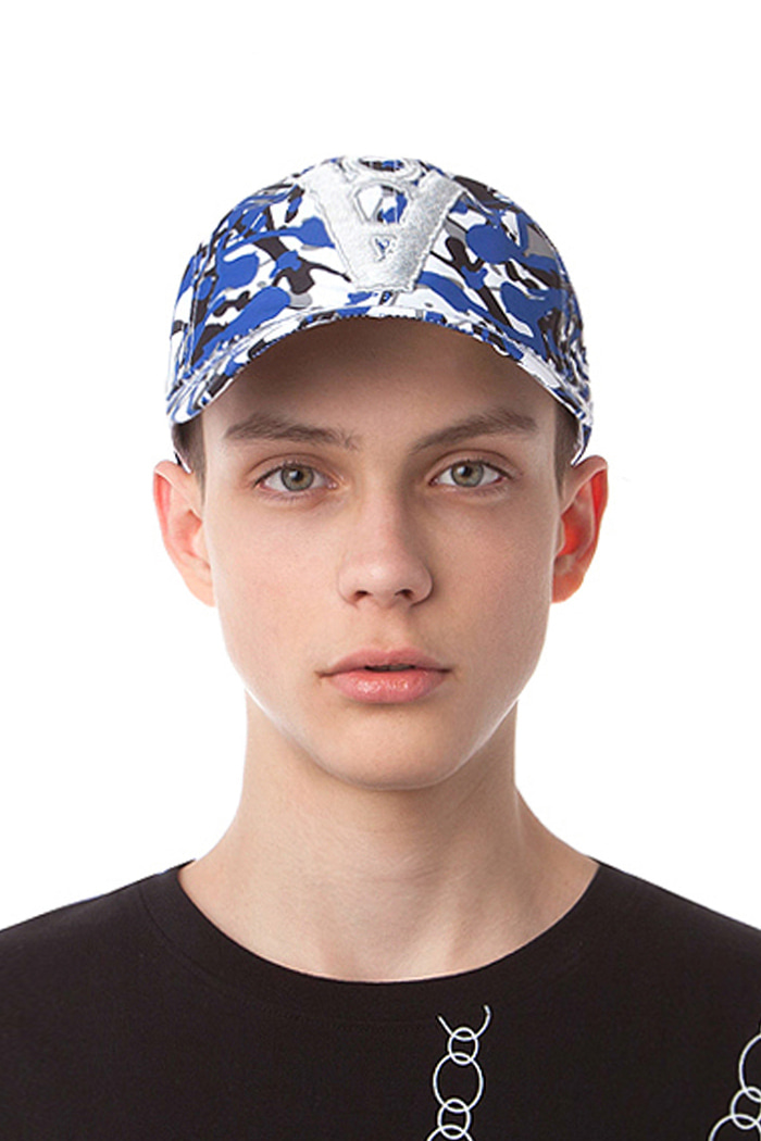 CAMOUFLAGE PATTERN BALL CAP (BLUE)