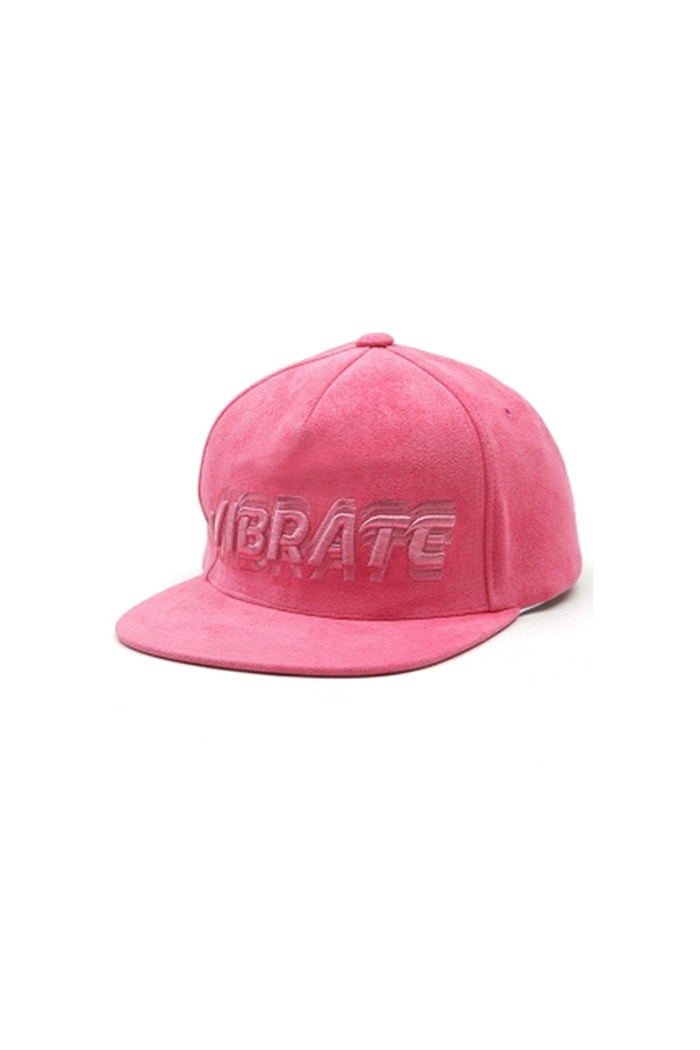 SIGNATURE NAME SNAPBACK (SUEDE PINK)