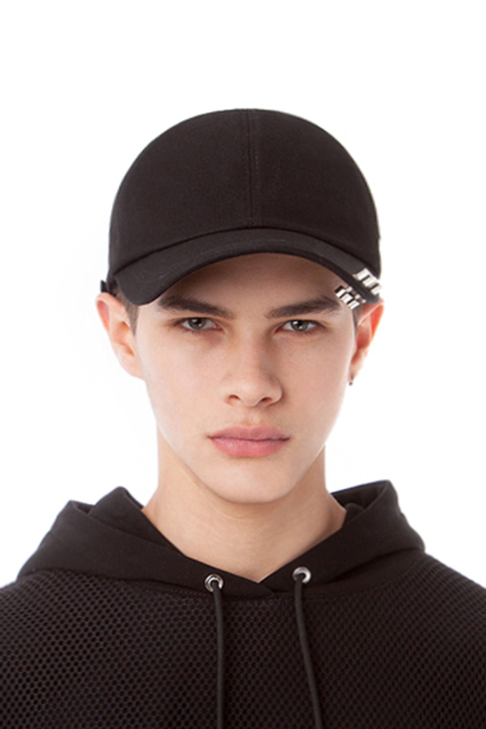 DOUBLE PIERCING BALL CAP (BLACK)