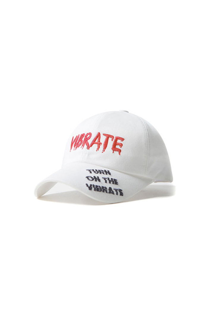GRAFFITI EMBROIDERY BALL CAP (WHITE)