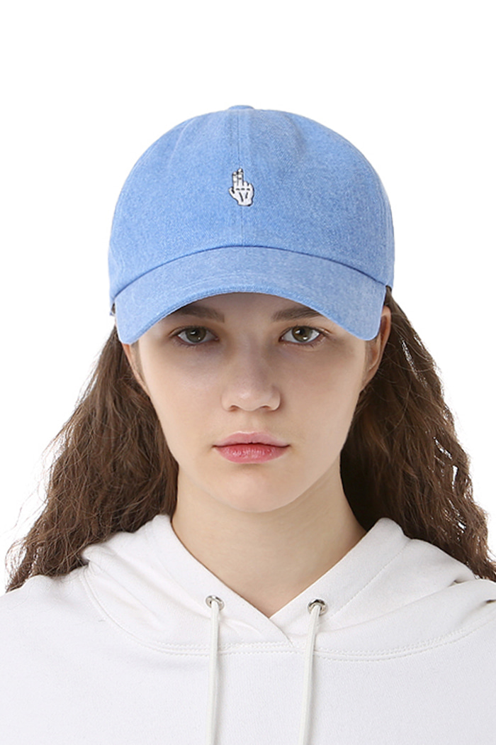 FINGER BALL CAP (WASHING BLUE)