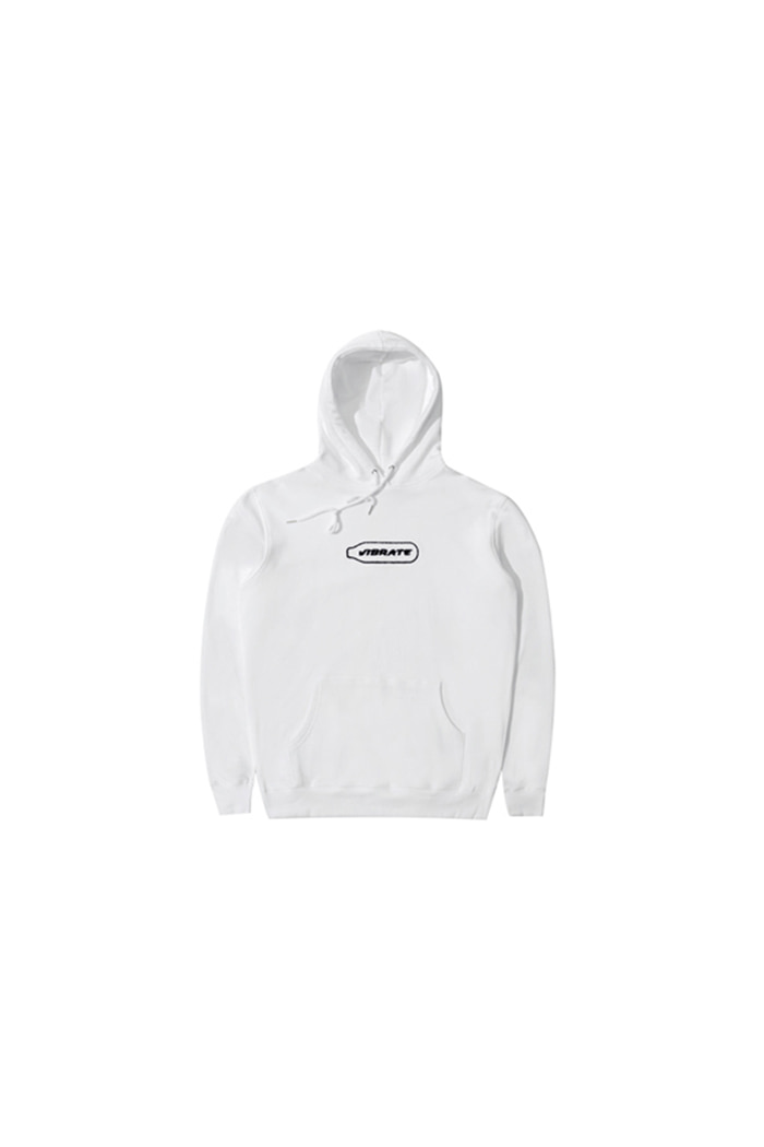 BOTTLE EMBROIDERY HOODIE (WHITE)