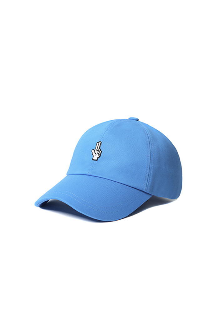 SIMPLE HAND SHAKE BALL CAP (BLUE)