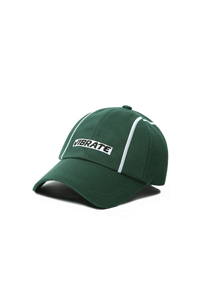 VERTICAL LINE BALL CAP (GREEN)