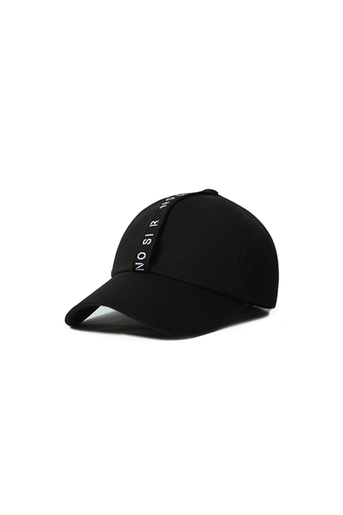 NO SI R LONG STRAP BALL CAP (BLACK)