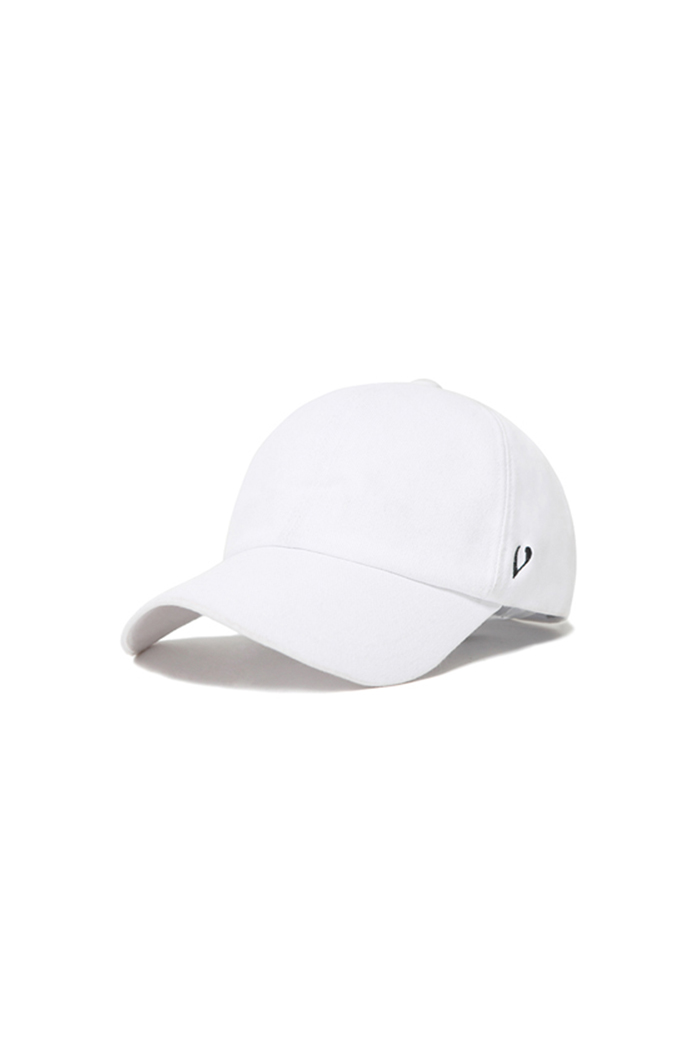 SNAP BUTTON STRAP BALL CAP (WHITE)
