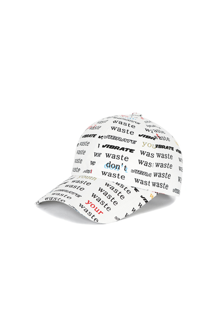 D.W.Y.Y PATTERN BALL CAP (WHITE)