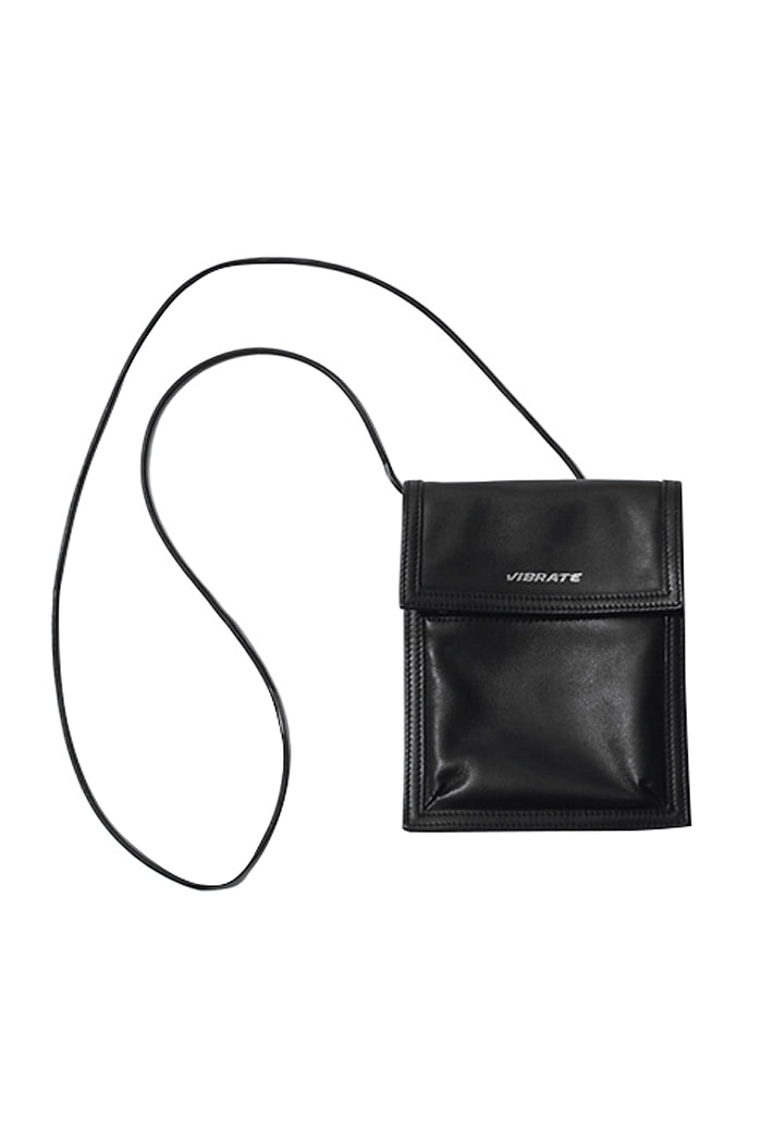BASIC REAL LEATHER MINI SHOULDER BAG (BLACK)