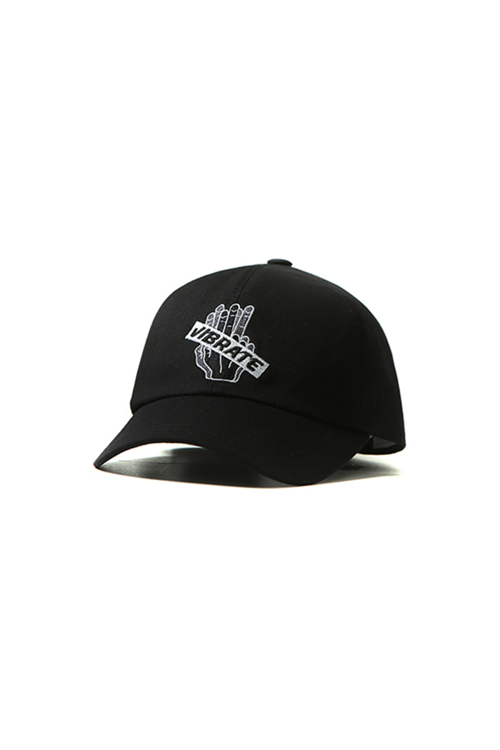 EMBROIDERY BOX BALL CAP (BLACK)