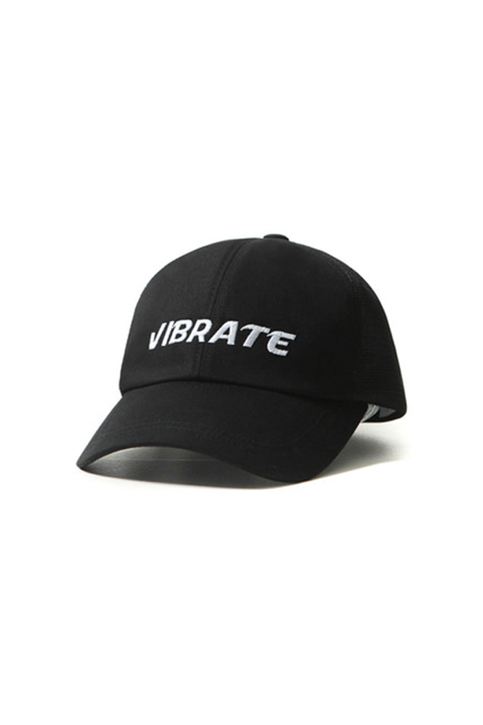 MESH SIGNATURE BALL CAP (BLACK)