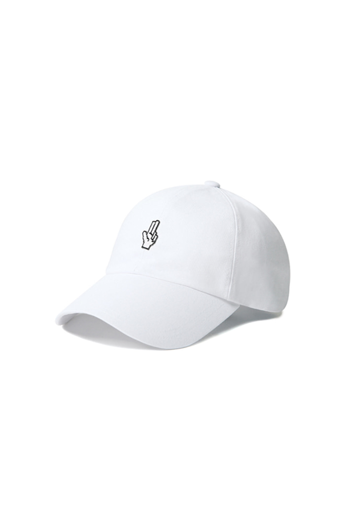 SIMPLE HAND SHAKE BALL CAP (WHITE)