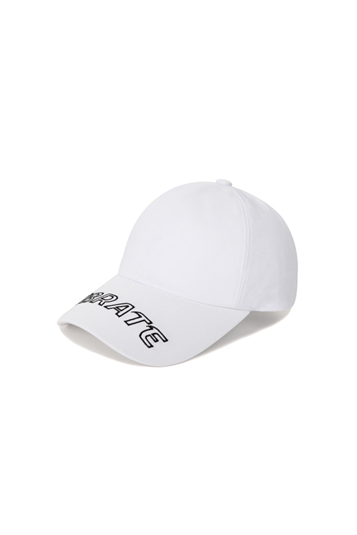 VISOR EMBROIDERY BALL CAP (WHITE)