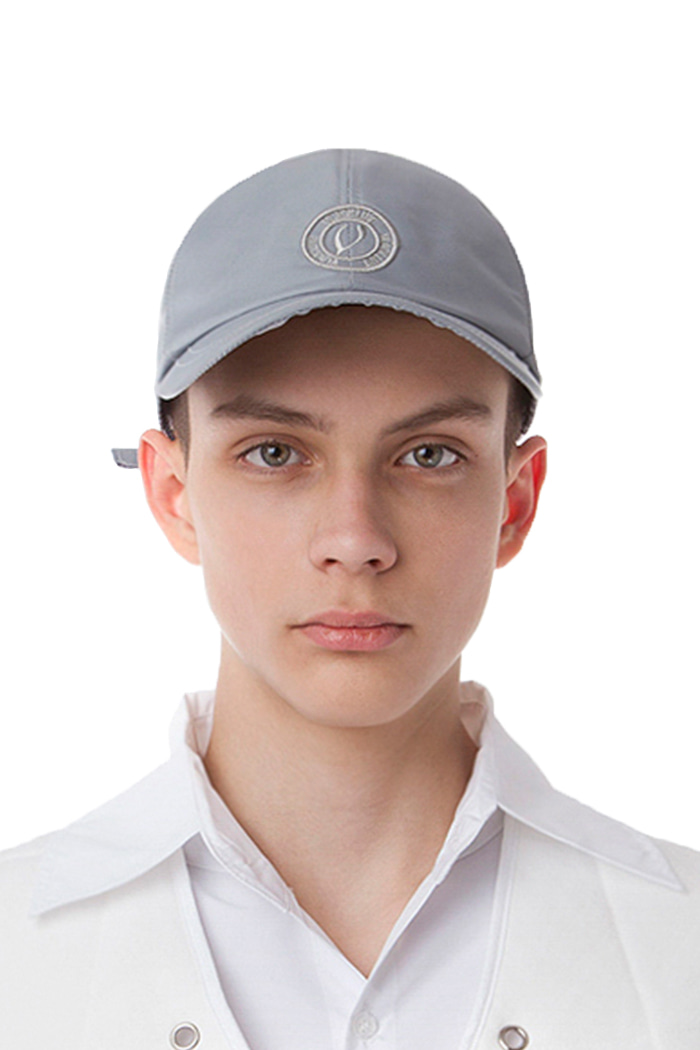 METAL NYLON BALL CAP (GRAY)