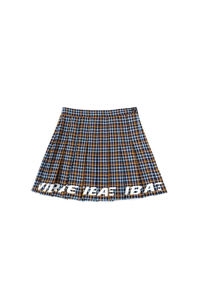 BOTTOM LOGO TENNIS SKIRT (BLUE&YELLOW)