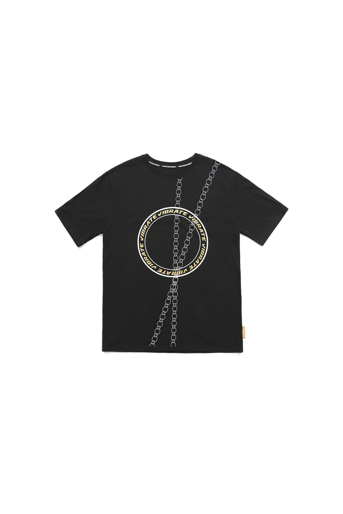 ROUND CHAIN T-SHIRT (BLACK)