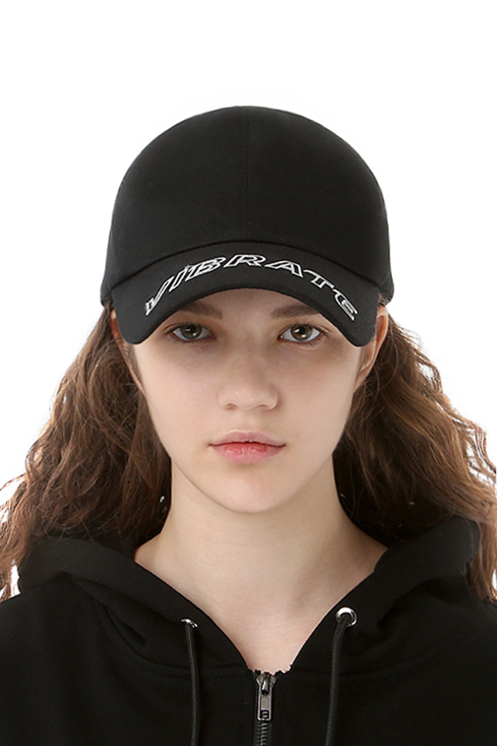 VISOR EMBROIDERY BALL CAP (BLACK)