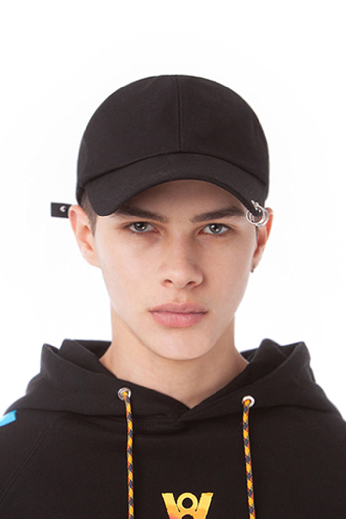 BASIC LOGO RING BALL CAP (BLACK)