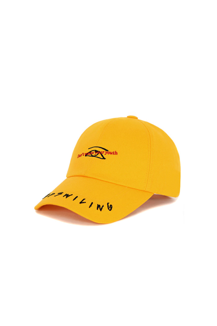 KEEP SMILING BALL CAP (MUSTARD)