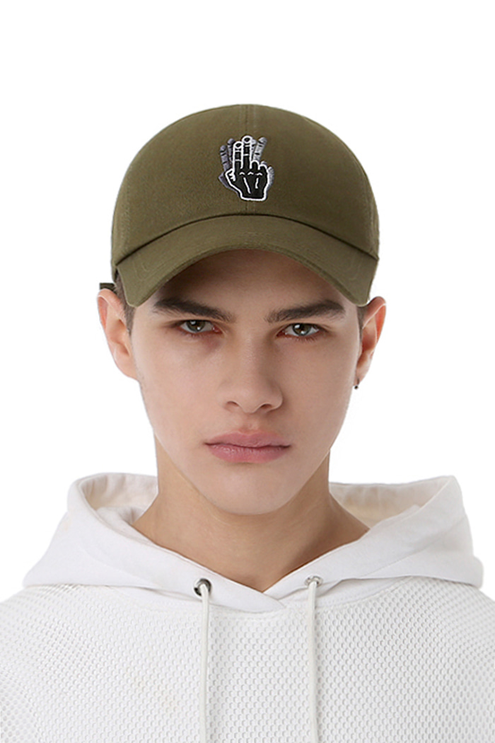 HAND SHAKE SIGN BALL CAP (KHAKI)