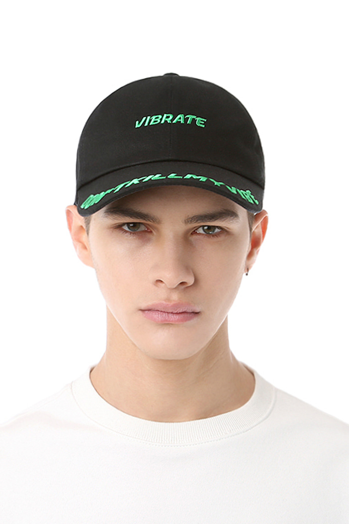 D.K.M.V VISOR EMBROIDERY BALL CAP (BLACK&GREEN)