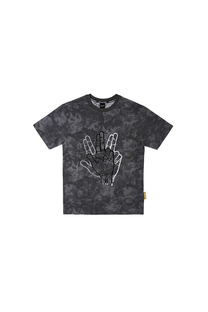 GOLDLINE FINGER LOGO T-SHIRTS (GRAY)