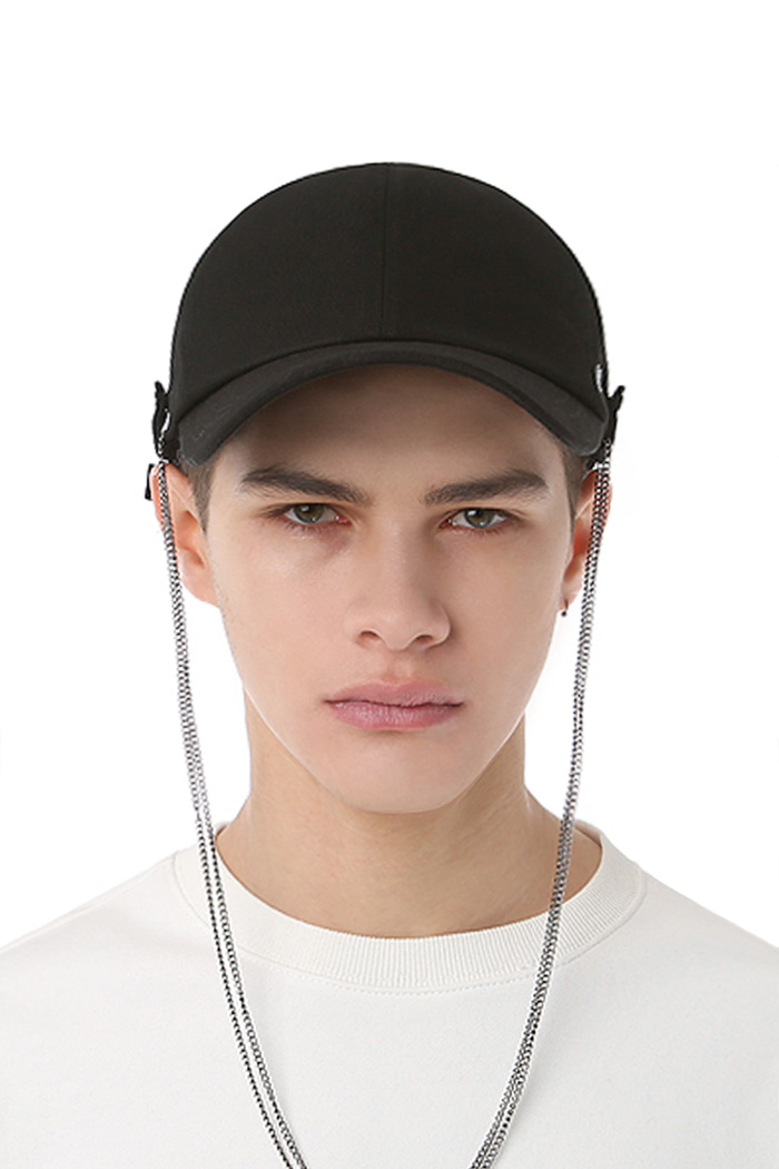 CHAIN DROP BALL CAP (BLACK)