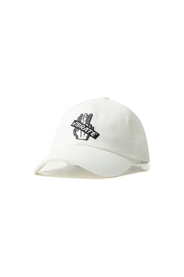 EMBROIDERY BOX BALL CAP (white)