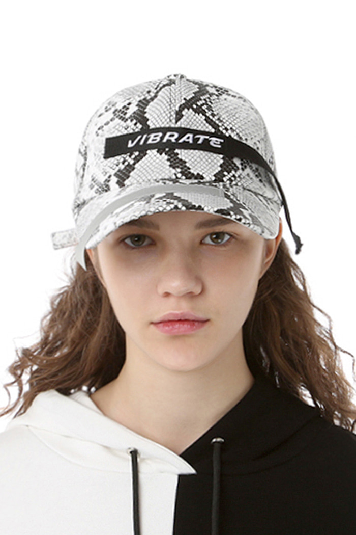 SNAKESKIN PATCH BALL CAP