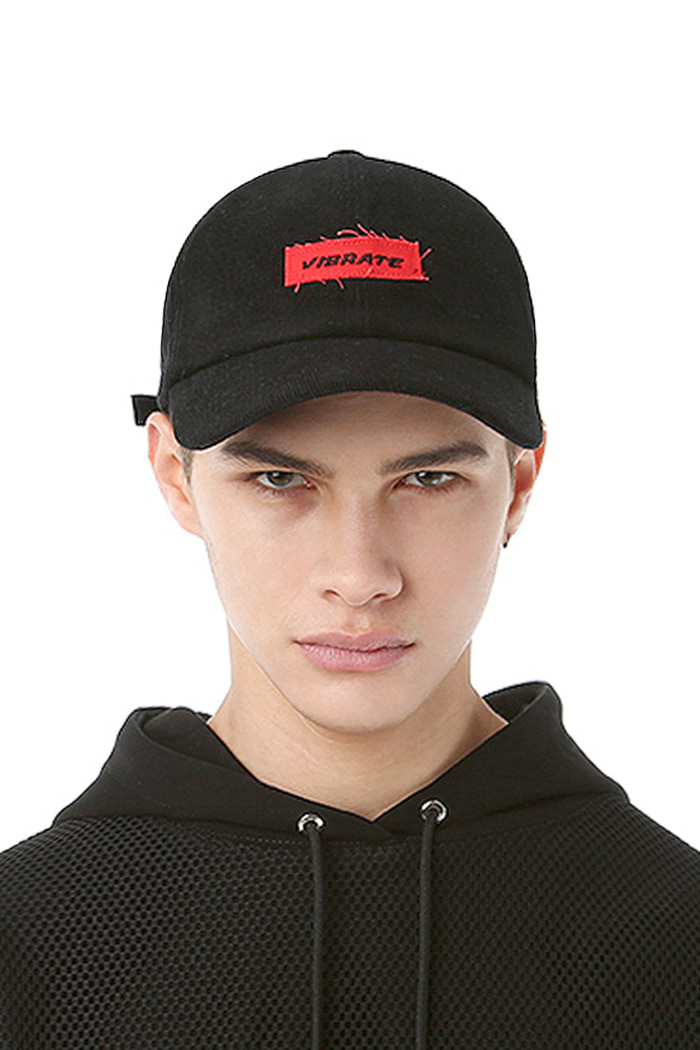 BOX LOGO BASIC BALL CAP (BLACK)