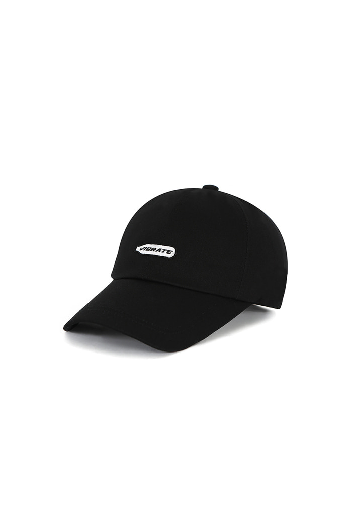 HAPPY PATCH BALL CAP (BLACK)