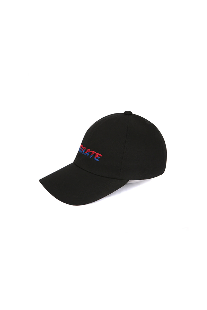 TWO TONE LOGO BALL CAP (BLACK)